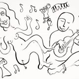 Family Band, Ink on paper, unframed (reg. $190) SALE: $95