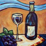 Merlot, acrylic on canvas, 11 in x 14in, reg $180, SALE: $95