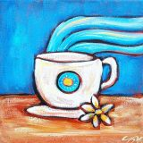 Noon Coffee, acrylic on canvas, 10in x 10in, (reg. $150) SALE: $75