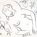 Peace, Ink on paper, unframed – (reg. $190) SALE: $95