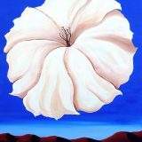 Petunia, Acrylic on Canvas- Framed: 30 in x 24 in – (reg. $690) SALE: $345