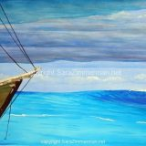 Sailing the Tropics, Watercolor on Paper- 15 in x 21 in, unframed – (reg $190), sale $95