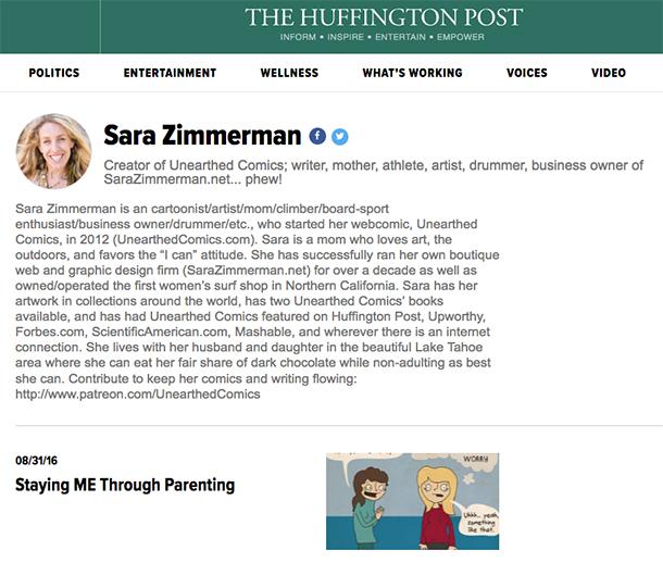 Sara Zimmerman writing for the Huffington Post