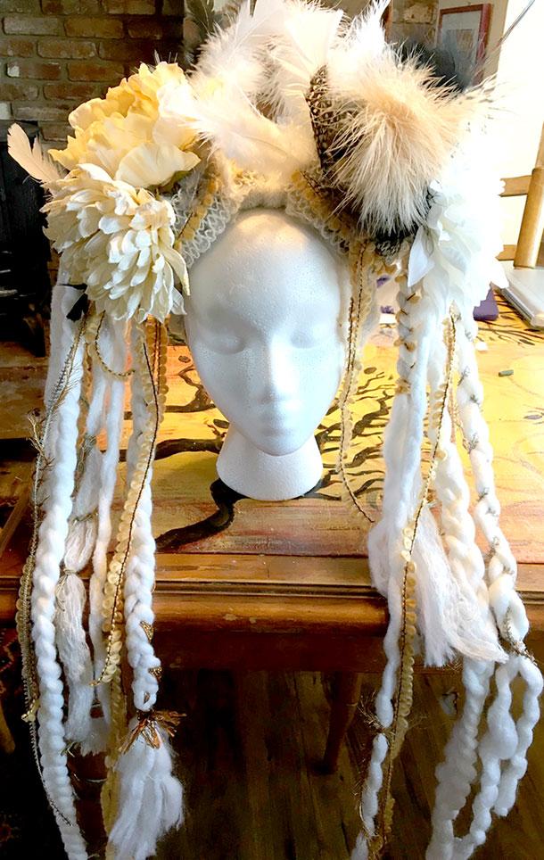 goddess headdress for goddess revival, burning man, bellydancing, photoshoots