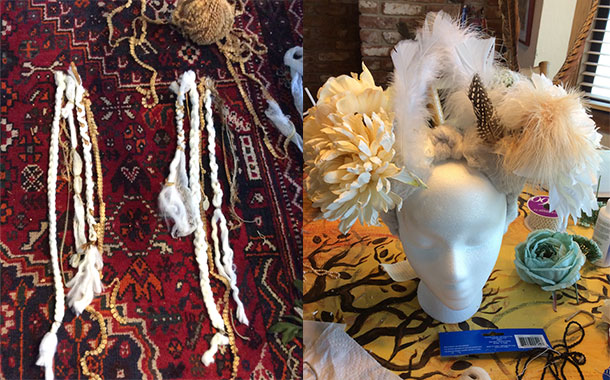 the artistic process of headdress design can be crazy