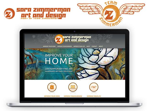 New Sara Zimmerman and Team ZImmerman graphic design and website design look