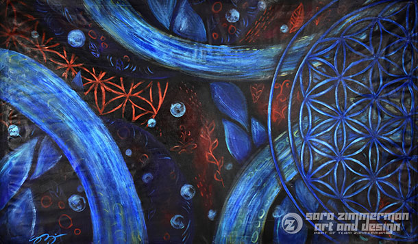 Healing art and abstract sacred geometry art