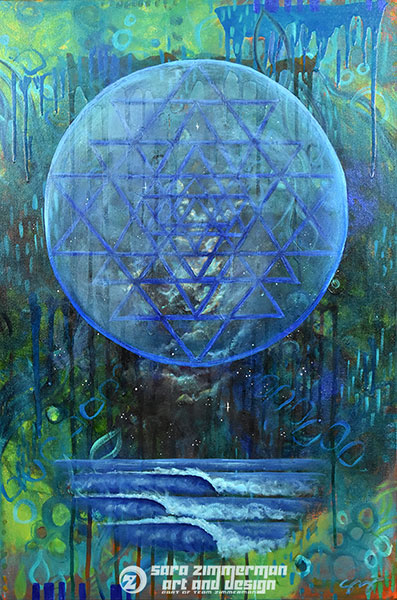 sacred geometry art and healing art from Tahoe artist Sara Zimmerman