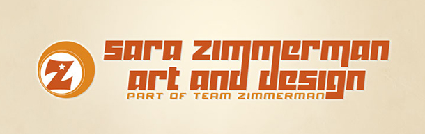 z ball logo and z circle logo of Sara Zimmerman Art and Design