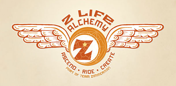 z ball with wings logo of Z Life Alchemy of Sara Zimmerman and Rob Zimmerman