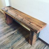 Rustic Bench from reclaimed Truckee barn beam – $620