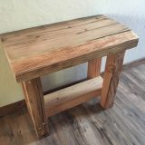 Rustic Bench from reclaimed Truckee barn beam – $390