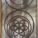 "Heavenly Balance – Peruvian Walnut – 11.5"" x 14"" – $210"