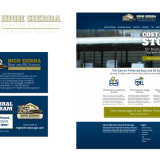 Logo, branding, graphic design, and website design for a Sierra boat and storage company
