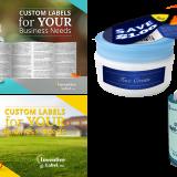 graphic design, label mock ups, and bottle bock ups