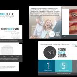 logo design, branding, stationery, social media branding, plus web design and development for North Tahoe Dental – dentist logo and websites