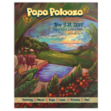 Hand-painted illustration and graphic design for Hawaiian event poster