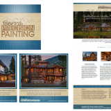 Logo enhancement, branding, social media branding, and website design and development for Truckee painting contractor