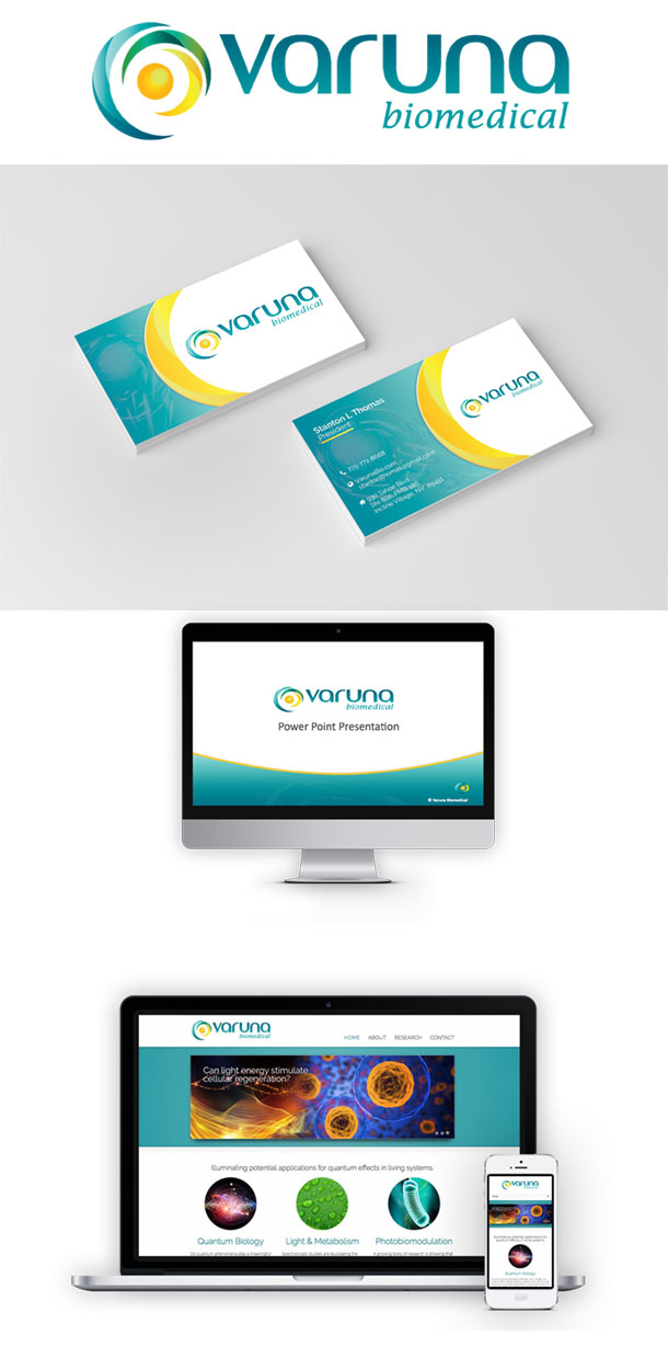 graphic design and branding and web design for biomedical company