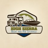 High Sierra Boat and RV storage logo design