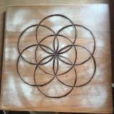 "Seed of Life – Solid Brazilian Cherry – 11.5"" x 11.5"" – $195"
