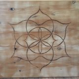 "Flower Of Life Mandala #1 – Solid Alder – 24"" x 22"" – $425"
