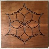 "Seed of Life Mandala #3 – Solid Cherry – 11.5"" x 11.5"" – $195"