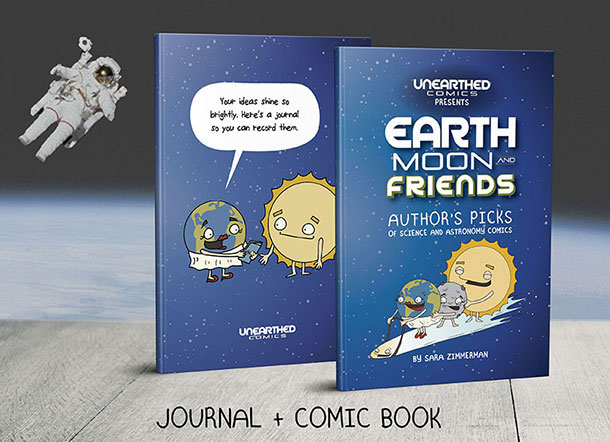 new comic books by Sara ZImmerman and Unearthed Comics are available