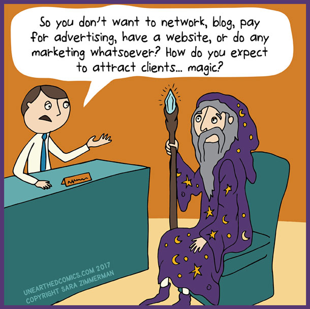 marketing comics and humor about marketing clients
