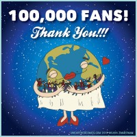Unearthed Comics reaches 100,000 Fans!