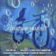 New Bike Paintings at Lion Heart Art Show 3/4/16
