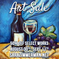 End of Summer Art Sale 8/30-9/11